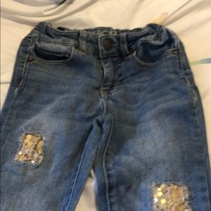 patch jean small stain in picture adjustable waist